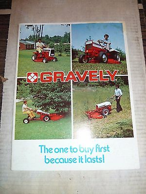 1974 Gravely Farm Equipment 26 Page Catalog