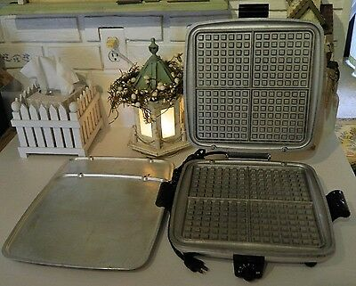 Vintage Westinghouse Electric Waffle Maker Iron and Flat Grill Griddle #SGWB521