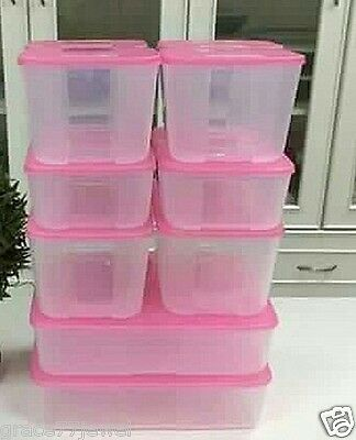 4x New Tupperware Freezer Mate Set PINK Limited Edition Best Price FREE SHIPPING