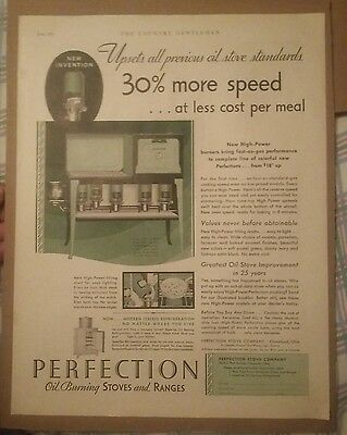 1931 Perfection Oil Burning Stoves & Ranges Ad