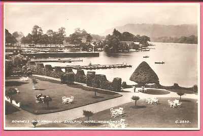 Bowness Bay from Old England Hotel, Windermere Cumbria Lake District postcard RP
