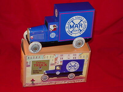 Modern Marx Collector Series Delivery Truck Tin Toy With Box