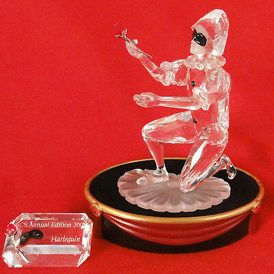 HARLEQUIN figurine Swarovski Crystal Third of Masquerade Trilogy 2001 NEW IN BOX