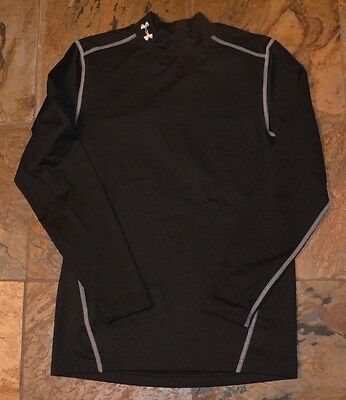 Mens' UNDER ARMOUR Black Fitted Long Sleeve Shirt Size Small