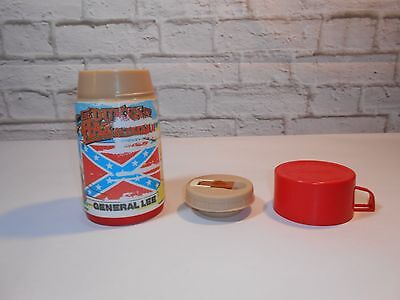 Vtg Dukes of Hazzard Thermos Replacement for Lunchbox Aladdin Plastic 1980