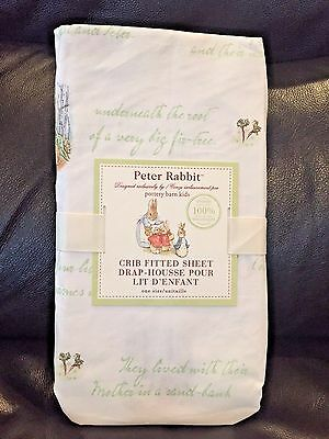 NEW Pottery Barn Kids Unisex Peter Rabbit Crib Fitted Sheet RARE