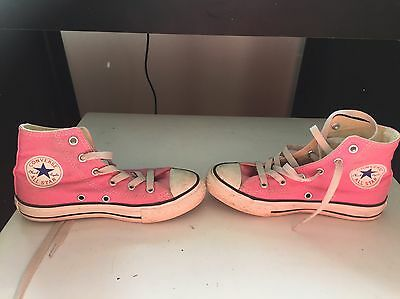 Converse Pink Girls Boots Size13US Ringw