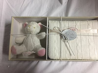 Russ Berrie Baby's First Christmas Photo Album and Bear Gift Set (PINK)