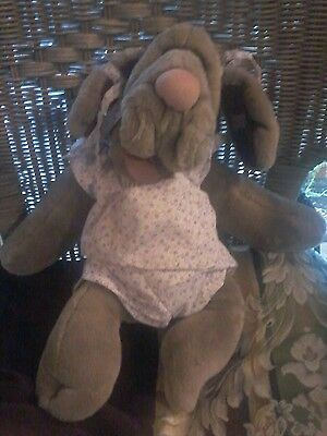 Vintage 1981 Ganz Bros. Wrinkles Plush Puppet Girl Exc. Condition