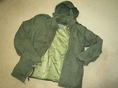 Original U.s.a M65 Field Jacket, Extra Small  With New Liner, Hood, Used.