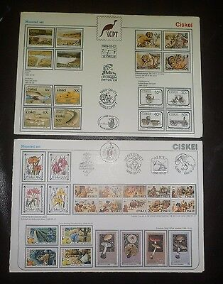 2 Rare Stamp Sets From Ciskei (South Africa)