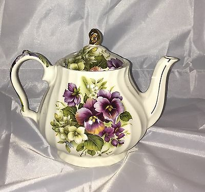 Sadler Windsor England Teapot Beautiful Pansy Pansies