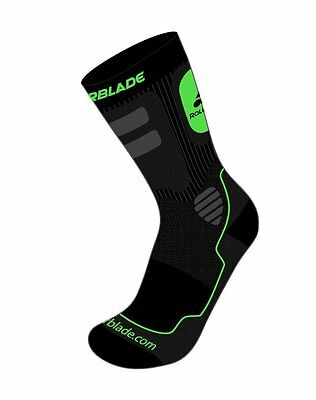Rollerblade Men's High Performance Skating Socks, Large/US 10-12.5 Made in Italy
