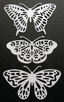 CHOICE OF COLOUR & CARD  12 x Butterfly Die Cuts  .. Embellishment, Scrapbooking