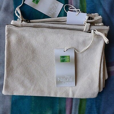 Blank Cotton Canvas Pouches X 5, Ethically Produced