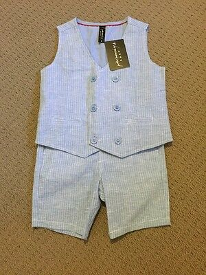 Boys Wedding Outfit Set Vest Suit Special Occasion Birthday Peter Morrissey 2