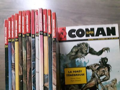 LOT de 14 bd SUPER CONAN heroic fantasy