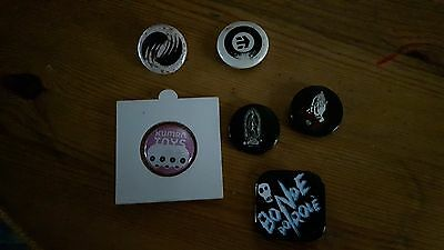 LOT Badge Buttons Pins LOPEZ / PRAY FOR ME skate surf board