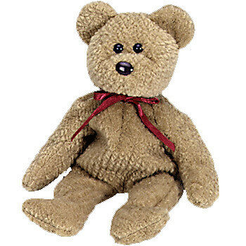 NEW Ty Beanie Babies - Curly the Bear