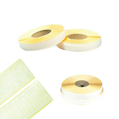 White Sticky Self Adhesive Hook and Loop Tape Magic sticker-white 9M 10yd