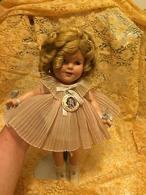 Vintage 1930's SHIRLEY TEMPLE DOLL -Near Mint All Clothes/shoes/wig ORIGINAL