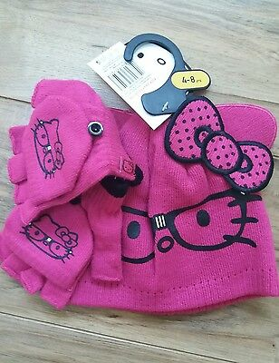 hello kitty hat mittens glove set bnewtags age 45678 years