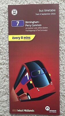 National Express West Midlands Bus Timetable 2016 - 7 Birmingham