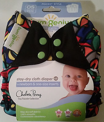 NIP Top Hat bum genius 4.0 pocket diaper, chelsea perry artist series