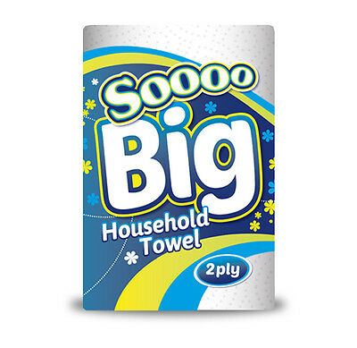 Kitchen Rolls 2ply - 12, 24, 36 or 48 Pack