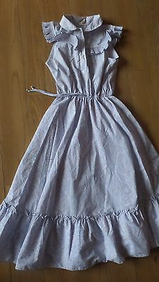 "Vintage dress Miss Slenderella 1980's cotton bust 36"" bust 44"" long"