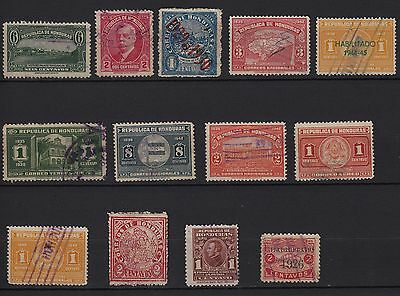 U61) x13 TIMBRES stamps HONDURAS (Oblitérés - Used) Classic-Stamps