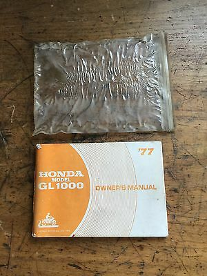 Honda Goldwing  Gl1000 Handbook Owners Manual