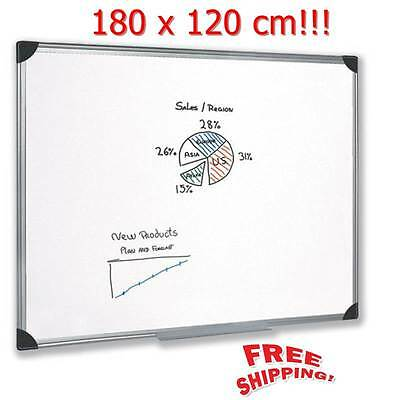Office Magnetic Notice Board Extra Large 180 x 120 cm Aluminium Frame Drywipe