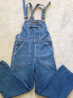 Vintage 1970s Faberge perfect wash cropped overalls