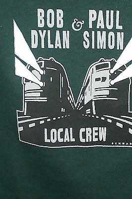 Bob Dylan Paul Simon Crew T-Shirt XL Never Worn