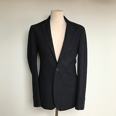 Remus Uomo Blazer Navy 42 Long Slim Fit New Without Tags