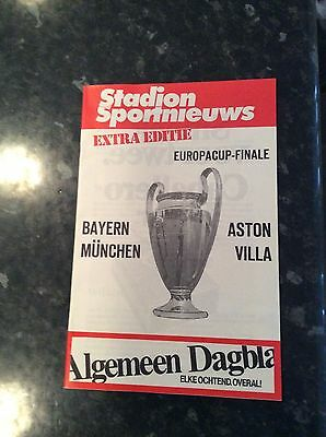 European Cup Final 1982 Aston Villa V Bayern Munich Extra Edition