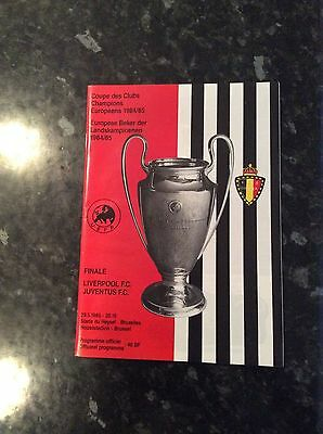 Original European Cup Final 1985 Liverpool V Juventus At Heysel Stadium Abroad