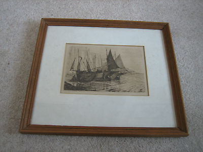 Hastings Etching By Charles P Slocombe 1879