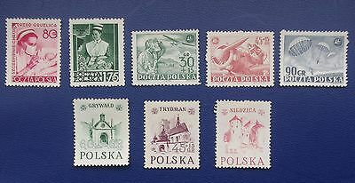 POLAND - 1952 - 1953  Collection of MH Stamps.
