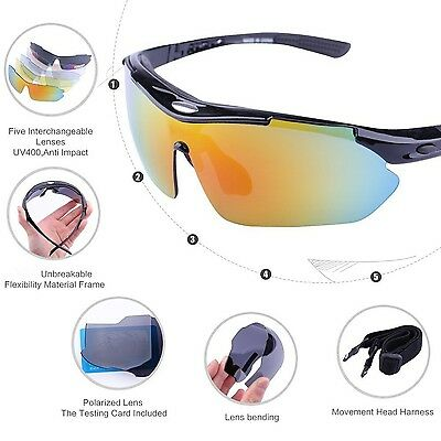 Buydaly Outdoor Sunglasses With 5 Interchangeable Lens Polarized D... -Brand NEW