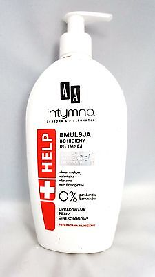 Pl/AA Intimate emulsion HELP for intimate hygiene no parabens,no colorants
