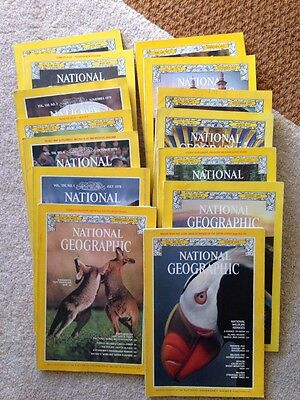 1970s National Geographical Magazines 14 1972 1975 1979 1977 1978