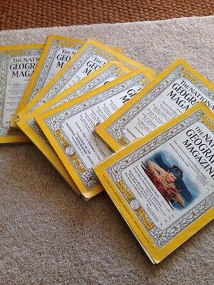 1950s National Geographical Magazines 9 In Total