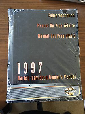 Harley Davidson 1997 Owners Manual New In Cellophane Part No.99463-97 Rare!