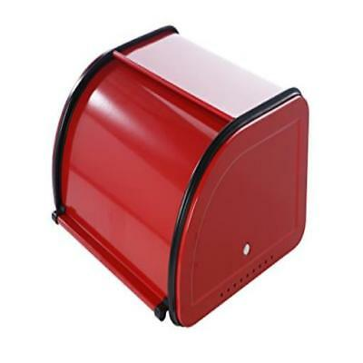 Roll Top Bread Box For Kitchen Small Half Loaf Bread Bin Storage Container For