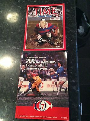 Hong Kong Invitation Sevens 1986 Cathay Pacific  With Time Mag - Australia Etc