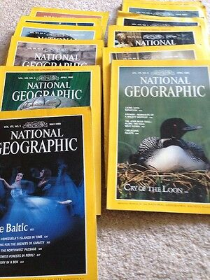 1980 National Geographical Magazines 12 In Total 1989 1990 1986 1983