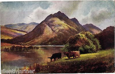 Loch Arklet, Tuck Oilette postcard by F. W. Hayes, posted 1905