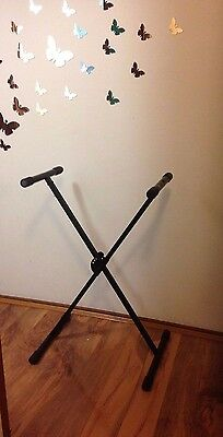 Keyboard stand,foldable,height adjustable, 2x brace, X type,New,2225